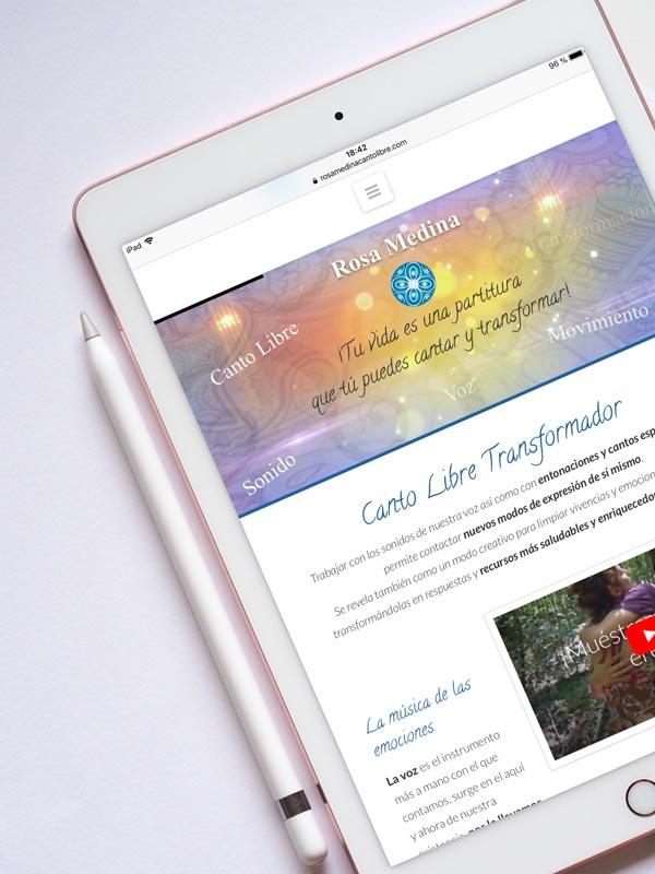 Páginas web para terapeutas