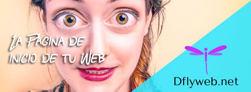 La página de inicio de tu web